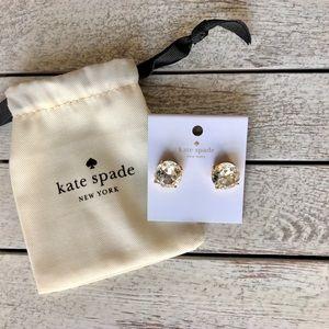 🎀 Kate Spade Large Clear Gumdrop Earrings 🎀